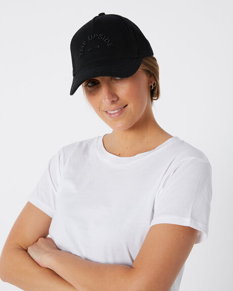 BLACK BLACK WOMENS ACCESSORIES THE UPSIDE HEADWEAR - USA319001BLKBK