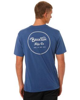 DEEP BLUE GREY MENS CLOTHING BRIXTON TEES - 06485DPBLG