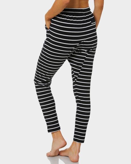 BLACK WHITE STRIPE WOMENS CLOTHING BETTY BASICS PANTS - BB225BLKW