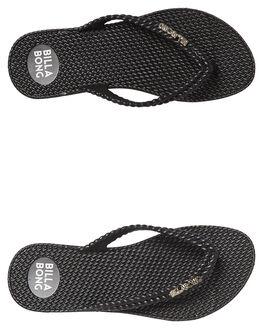 BLACK SILVER WOMENS FOOTWEAR BILLABONG THONGS - 6661856BLK2