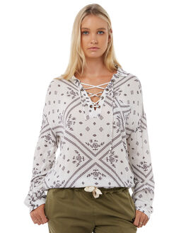 WHITE WOMENS CLOTHING RIP CURL FASHION TOPS - GSHEN11000