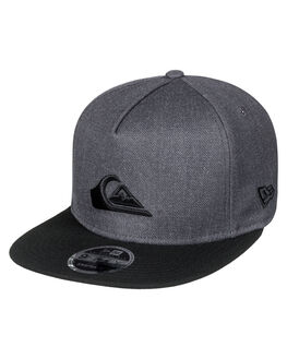 CHARCOAL HEATHER MENS ACCESSORIES QUIKSILVER HEADWEAR - AQYHA03989KTAH