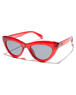 TRANSLUCENT RED WOMENS ACCESSORIES LOCAL SUPPLY SUNGLASSES - MARINARDP1