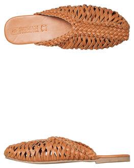TAN LEATHER WOMENS FOOTWEAR HUMAN FOOTWEAR FLATS - HAMILTONTLTR