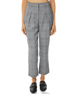CHARCOAL CHECK WOMENS CLOTHING THE FIFTH LABEL PANTS - 40180464-5CHAR