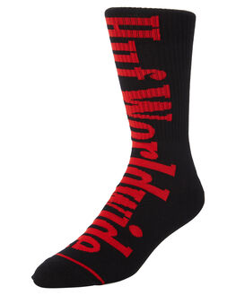 BLACK MENS CLOTHING HUF SOCKS + UNDERWEAR - SK00258-BLACK