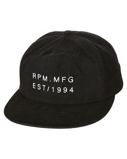 BLACK MENS ACCESSORIES RPM HEADWEAR - 6SAC03A8BLK