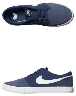 MIDNIGHT NAVY WHITE MENS FOOTWEAR NIKE SKATE SHOES - 880266-410