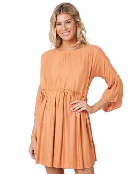 PEACH WOMENS CLOTHING RIP CURL DRESSES - GDRNE90165
