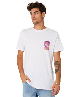 WHITE MENS CLOTHING RIP CURL TEES - CTELE91000
