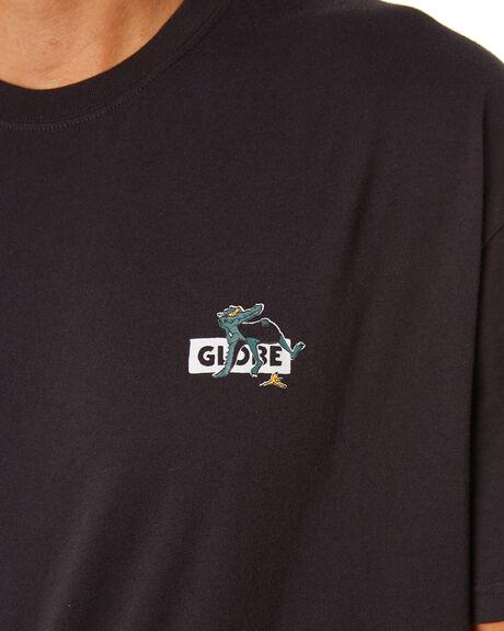 WASHED BLACK MENS CLOTHING GLOBE TEES - GB01920004WSBLK