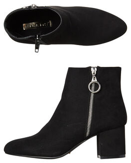 BLACK SUEDE WOMENS FOOTWEAR BILLINI BOOTS - B896BLKS