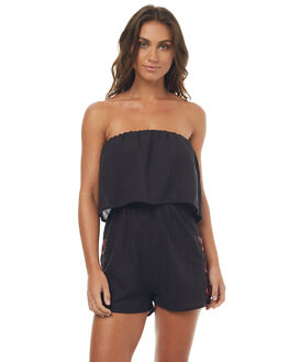 BLACK WOMENS CLOTHING ELEMENT PLAYSUITS + OVERALLS - 274872BLK