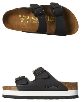 BLACK WOMENS FOOTWEAR BIRKENSTOCK FASHION SANDALS - 364063BLK