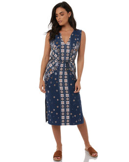 STEEL WOMENS CLOTHING TIGERLILY DRESSES - T383437STEEL