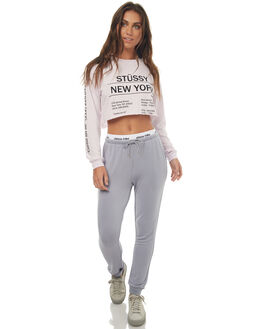 GREY WOMENS CLOTHING STUSSY PANTS - ST172A03GREY