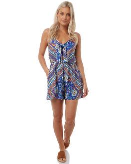 BLUE WOMENS CLOTHING ARNHEM PLAYSUITS + OVERALLS - ARROBL04BLU