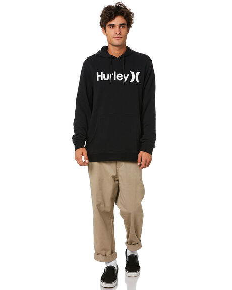 BLACK WHITE MENS CLOTHING HURLEY JUMPERS - CU0351H010