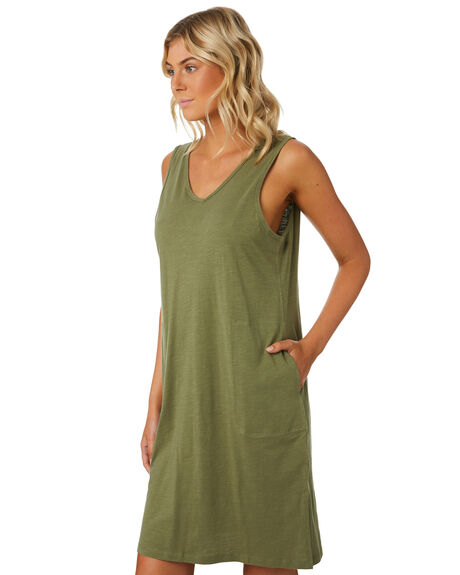 KHAKI WOMENS CLOTHING SWELL DRESSES - S8184441KHAKI