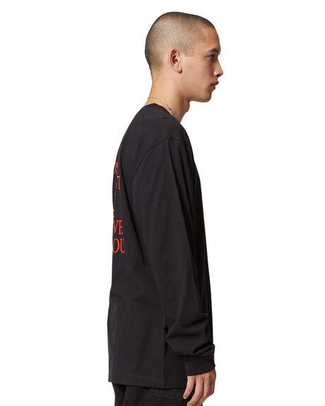 BLACK MENS CLOTHING DC SHOES TEES - ADYZT04981-KVJ0