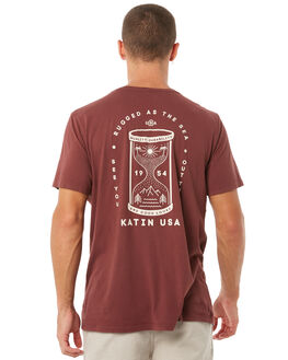 DEEP RED MENS CLOTHING KATIN TEES - TSHOC01DRED