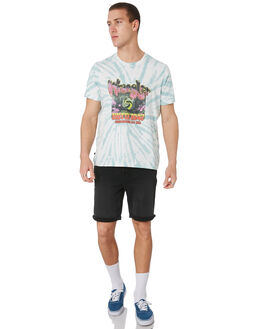 BLACK TIE DYE MENS CLOTHING WRANGLER TEES - W901692717BLKTD