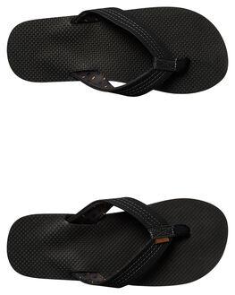 BLACK RASTA MENS FOOTWEAR FREEWATERS THONGS - MO022BKRS