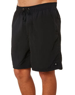 BLACK MENS CLOTHING THRILLS SHORTS - TS8-304BBLK