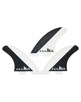 BLACK WHITE BOARDSPORTS SURF FCS FINS - FMFM-PC03-MD-TS-RBLK