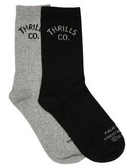 BLACK GREY MARLE MENS CLOTHING THRILLS SOCKS + UNDERWEAR - TW20-1002BGBLKGR