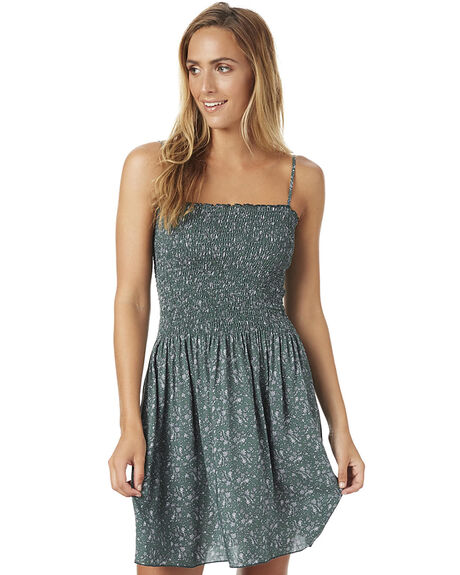GREEN FLORAL WOMENS CLOTHING SWELL DRESSES - S8161465GRN
