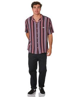 BLACK MENS CLOTHING STUSSY SHIRTS - ST096408BLK