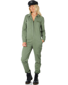 ARMY GREEN WOMENS CLOTHING THRILLS PLAYSUITS + OVERALLS - WTW8-902EAGRN