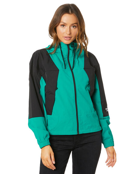 JAIDEN GREEN BLACK WOMENS CLOTHING THE NORTH FACE JACKETS - NF0A4AFSMR4