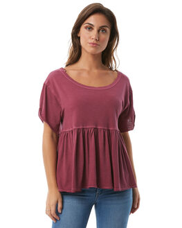 WINE WOMENS CLOTHING FREE PEOPLE FASHION TOPS - OB5628506625