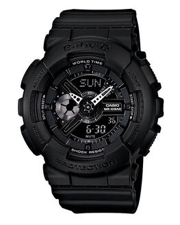 BLACK MENS ACCESSORIES BABY G WATCHES - BA110BC-1ABLK