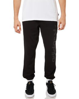 BLACK WHITE MENS CLOTHING ADIDAS PANTS - DH3874BLK