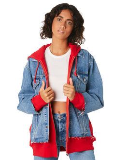 PIGGY BACK RED WOMENS CLOTHING LEVI'S JACKETS - 72737-0000PIG