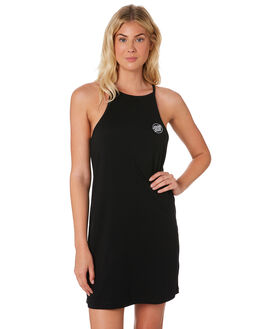 BLACK WOMENS CLOTHING SANTA CRUZ DRESSES - SC-WDD7484BLK