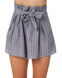 NAVY WITH WHITE WOMENS CLOTHING THE FIFTH LABEL SHORTS - 40181126-3NVY