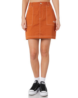 RUST OUTLET WOMENS STUSSY SKIRTS - ST191500RUST