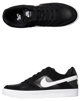 BLACK WHITE MENS FOOTWEAR NIKE SKATE SHOES - 942237-010