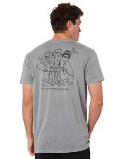 STONE WASH GREY MENS CLOTHING ALOHA ZEN TEES - AZ468STWSH