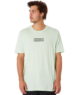 VAPOR GREEN HEATHER MENS CLOTHING HURLEY TEES - AUDPNTD327