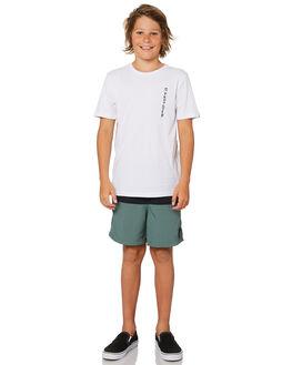 WHITE KIDS BOYS QUIKSILVER TOPS - EQBZT03855WBB0
