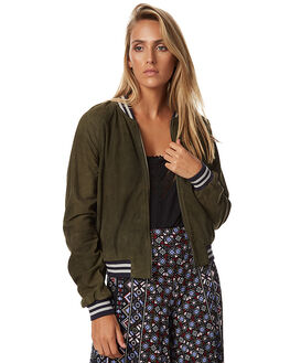 OLIVE WOMENS CLOTHING TIGERLILY JACKETS - T373246OLIVE