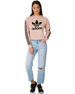 ASH PEARL WOMENS CLOTHING ADIDAS ORIGINALS JUMPERS - CE3719ASH