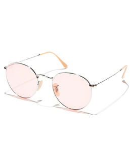 PINK PHOTOCHROMIC MENS ACCESSORIES RAY-BAN SUNGLASSES - 0RB3447SILPP