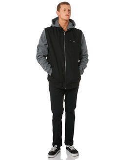 BLACK MENS CLOTHING RVCA JACKETS - R193434BLK
