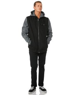 BLACK MENS CLOTHING RVCA JACKETS - R193434BLK